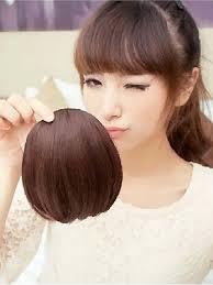 hair clip poni bangs clip poni cut depan brown
