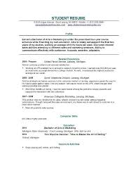 Sample College Resumes Resume Example by Resume Format For College College Resumes Examples College