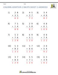 adding three digit numbers worksheets addition math facts chart