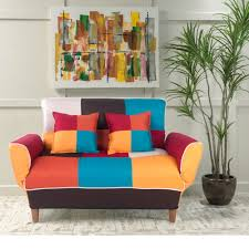 kitchen sofa furniture carver adjustable colorful patchwork fabric sofa bed loveseat