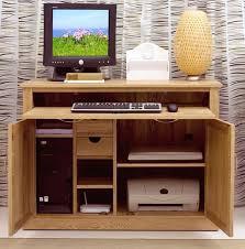 Hide Away Computer Desk Mobel Solid Oak Furniture Office Computer Hideaway Desk Ebay In