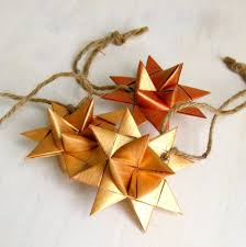 froebel star ornaments at kaukauna public library green bay