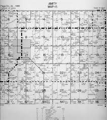 Map Of Iowa Counties Townships Page Co Iowa
