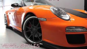 Porsche 911 Orange - porsche carrera s 911 full orange wrap youtube