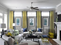 blue yellow and gray livingom curtains tiffany ideas navy wallsyal