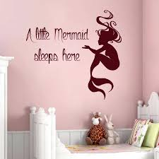 home interior ebay mermaid wall decals quote a little sleeps here vinyl decal sticker