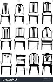 selection vector dining room chairs different stock vector 3350252