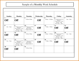 work monthly staff schedule template excel schedule templates free