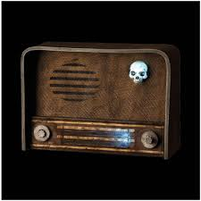 animated haunted radio halloween prop mad about horror