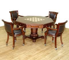 bedroom handsome set mahogany chesspoker game octagonal table