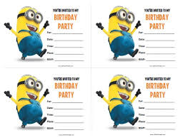 free birthday invitations minions birthday invitations free printable allfreeprintable minions