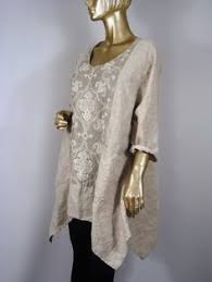 Shabby Chic Plus Size Clothing by Plus Size Linen Tunic Natural Wheat Womens Clothing 2x To 3x
