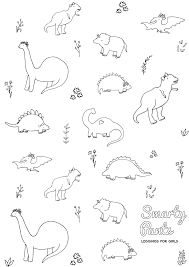 printable dinosaur coloring page smarty pants toddler