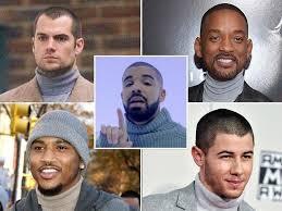 Turtleneck Meme - celebrity men wearing turtlenecks drake will smith nick jonas