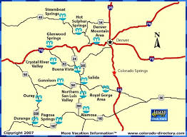 map of colorado hots springs locations also provides a list