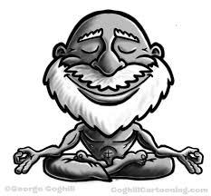 guru meditating cartoon character daily sketch coghill akash gautam