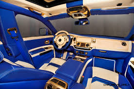interior rolls royce ghost mansory rolls royce ghost upgrades in white and electric blue gold
