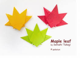 354 best origami leaves images on origami leaves