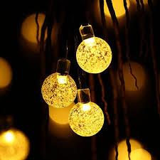 decoration lights for party qedertek globe outdoor solar string lights 20ft 30 led fairy bubble