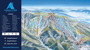 Big Sky Trail Map Mountain Stats Angel Fire Resort
