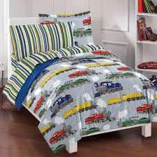 What Is A Bed Set Factory Trains Bed In A Bag Bedding Set Blue Walmart