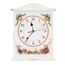 children u0027s shabby chic soft white silent wall clock woodright home