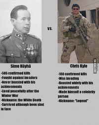Chris Kyle Meme - h磴yh磴 withe death vs chris kyle american sniper by sillysilli