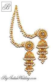 gold earrings for wedding image result for gold earring with belt jwe bridal