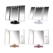 tri fold mirror with lights easehold tri fold led lighted vanity makeup mirror touch screen