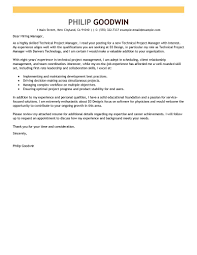 Examples Of Cover Letters For Resume by Best Technical Project Manager Cover Letter Examples Livecareer