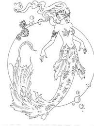 fairy mermaid coloring pages realistic mermaid coloring pages drawings pinterest