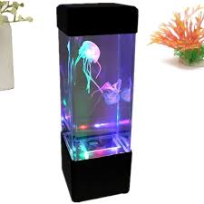 1pc water sea mood light aquarium bedside table desk relaxing led