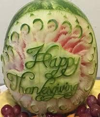 miscelleneous melon carvings