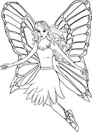 barbie mariposa beautiful wings coloring pages bulk color