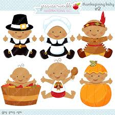 thanksgiving baby v2 digital clipart commercial use ok