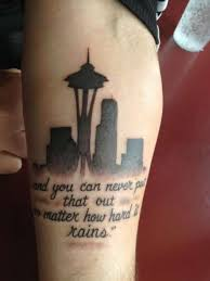 63 nice seattle skyline tattoo designs and ideas by artist