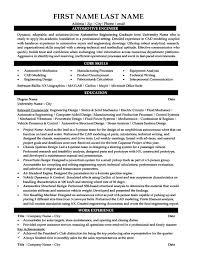 Automotive Mechanic Resume Sample by Automotive Engineer Sample Resume 7 Automotive Mechanic Resume