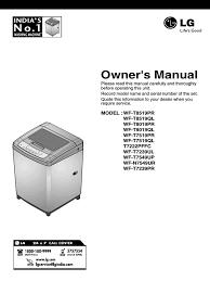 lg fuzzy logic user manual washing machine laundry