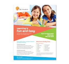 play school brochure templates preschool education flyer template http www dlayouts