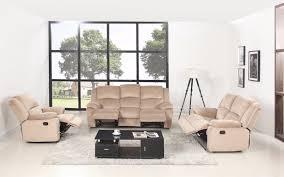 asturias traditional classic microfiber double recliner sofa