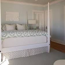 white and green beach style bedroom design ideas