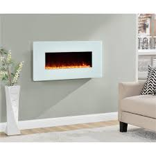 White Electric Fireplace With Bookcase by Ameriwood Furniture Kenna 35