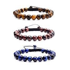 macrame beads bracelet images Jovivi 8mm birthstone gemstones healing power crystal jpg