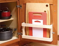 Inside Kitchen Cabinet Door Storage Home Organization Tips And Storage Tips Cuttings Board And Doors