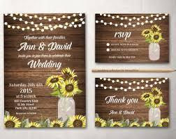 sunflower wedding invitations sunflower wedding invitation set rustic sunflower wedding