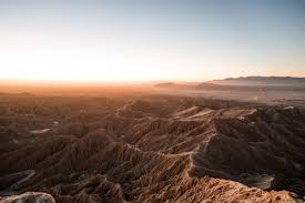 anza borrego desert dawn from font u0027s point overlooking the borrego badlands in anza