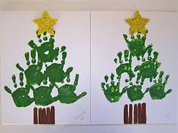 christmas handprint christmas tree wreaths easy to do crafts for