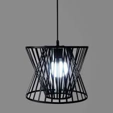 Industrial Pendant Light Industrial Hanging Pendant Light Single Light With Wire Net Metal