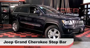jeep grand cherokee light bar spyder auto installation 2011 13 jeep grand cherokee step bars