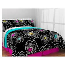 Teen Queen Bedding Kreative Kids Pink Teal U0026 Black Teen Girls Queen Comforter Set